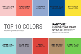 Pantone Color Names Pantone Spring Color Report 2016