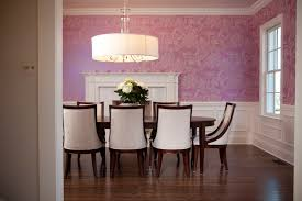 Dining Room Drum Chandelier Wainscoting In Dining Room Contemporary Dining Room