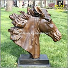 wholesale for sale cast bronze horse head sculpture for garden