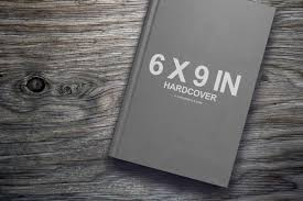 6x9 book on coffee table template mockup covervault