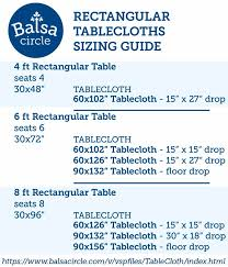 standard party table size 13 best tablecloths images on pinterest round tables within