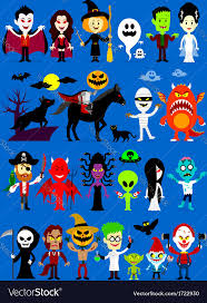cartoon halloween images monsters mash halloween characters royalty free vector image