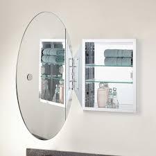 taussig recessed mount oval medicine cabinet bathroom