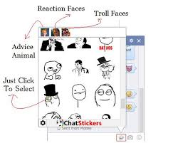 Facebook Chat Meme Faces - chatstickers use 3400 new facebook chat stickers while chatting
