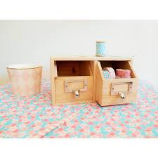 rangement sur bureau rangement bureau 2 tiroirs en bois