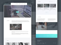 freebie u201csynthetica u201d one page website template html sketch