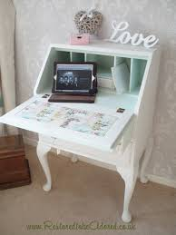 Shabby Chic Secretary Desk by Bureau Queen Anne Legs U2013 Restored To Be Adored