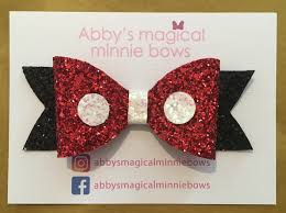 mickey mouse hair bow disney inspired hair bows abby filer jewellery