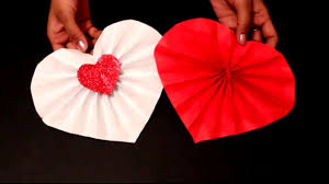 diy easy valentine u0027s day craft diy paper heart decoration ideas