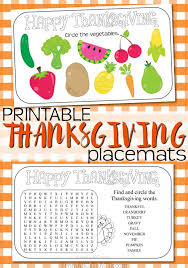 printable thanksgiving placemats thanksgiving placemats