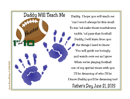 baby handprints football christmas gift for new daddy first