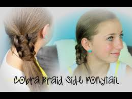 cute haircutes for 47 year olds cobra braid side ponytail cute girls hairstyles youtube