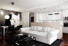 living room fashionable modern black and white living room decor
