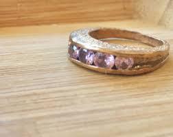 kif wedding band goldstone and smoky quartz ring 2 ring 22k gold plated