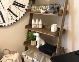 ladder shelf etsy