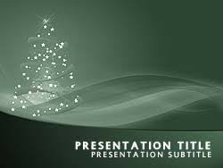 royalty free happy holidays powerpoint template in green