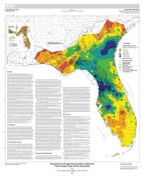 Map Of South Florida by Transmissivity Of The Upper Floridan Aquifer In Florida And Parts
