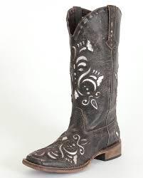 ladies motorcycle boots roper ladies u0027 metallic silver inlay boots fort brands