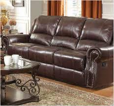 brown faux leather reclining sofa www energywarden net