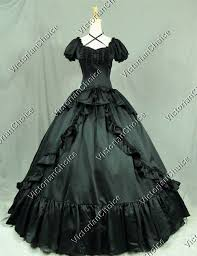 Ball Gown Halloween Costumes Quality Victorian Dress Black Witch Vampire Period West
