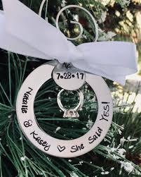 personalized engagement ornament custom engagement ornament
