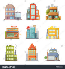 House Flat Design by Flat Design Retro Modern City Houses Stock Vector 603373463