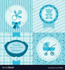 boy baby shower invitation cards royalty free vector image