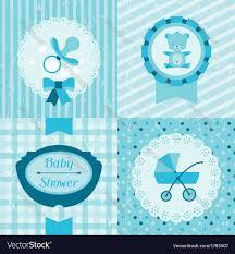 Babyshower Invitation Cards Boy Baby Shower Invitation Cards Royalty Free Vector Image
