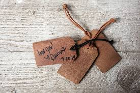 luggage tag wedding favors personalized luggage tag wedding favors real leather exsect