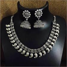 silver necklace set images Silver necklace set silver necklace set exporter manufacturer jpg