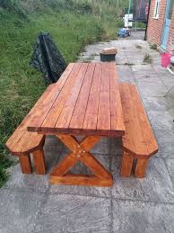 Best Wood To Make Picnic Table by Best 25 Wooden Picnic Tables Ideas On Pinterest Kids Wooden