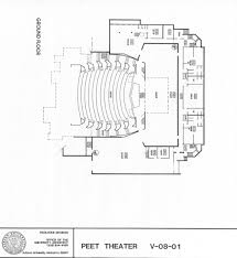 theater floor plan telfair peet theater au
