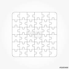 jigsaw puzzle blank templates 36 pieces