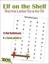 printable elf on the shelf arrival letter find the letter e is for elf christmas printable worksheets 3