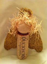 how to make cork ornaments with picture reindeer
