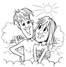 adam and eve coloring pages coloring page