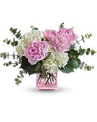 peony arrangement teleflora s pretty in peony flower arrangement teleflora