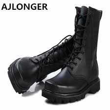 buy boots free shipping aliexpress com buy genuine leather boots plus size combat