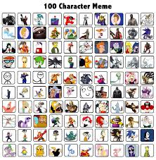 Meme Character - 100 characters meme the motion picture by naturevstech on deviantart