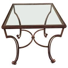 Glass And Metal Sofa Table Viyet Designer Furniture Tables Decorative Crafts Gilded