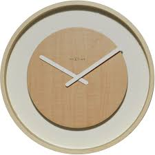 nextime wood loop round clock in light brown texture u0026 touch