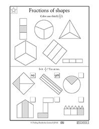 1st grade 2nd grade math worksheets finding 1 3 greatschools