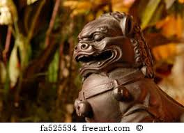 foo dog sculpture free print of japanese komainu foo dog sculpture