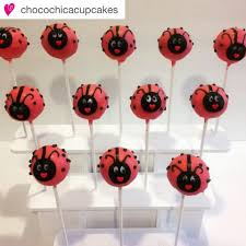 ladybug cake pops 3 tier collapsible cake pop stand for 12 pops