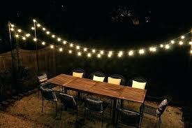 Outside Patio String Lights Outdoor Patio String Lights Globe Led Decor Of Home Remodel