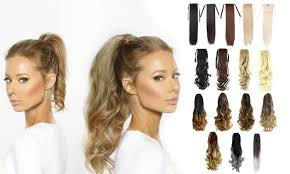 ponytail hair extensions ponytail hair extensions groupon