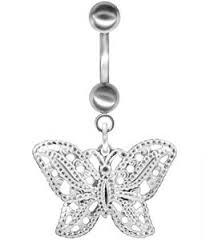 dangle butterfly belly button rings bodysparkle jewelry