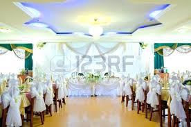 House Decoration Wedding Wedding Decoration Cartoon A Restaurant Banquet Room Decorated For
