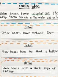 main idea and supporting details 3rd 5th grade worksheet