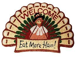 garden totes thanksgiving turkey shaped eat more ham fall